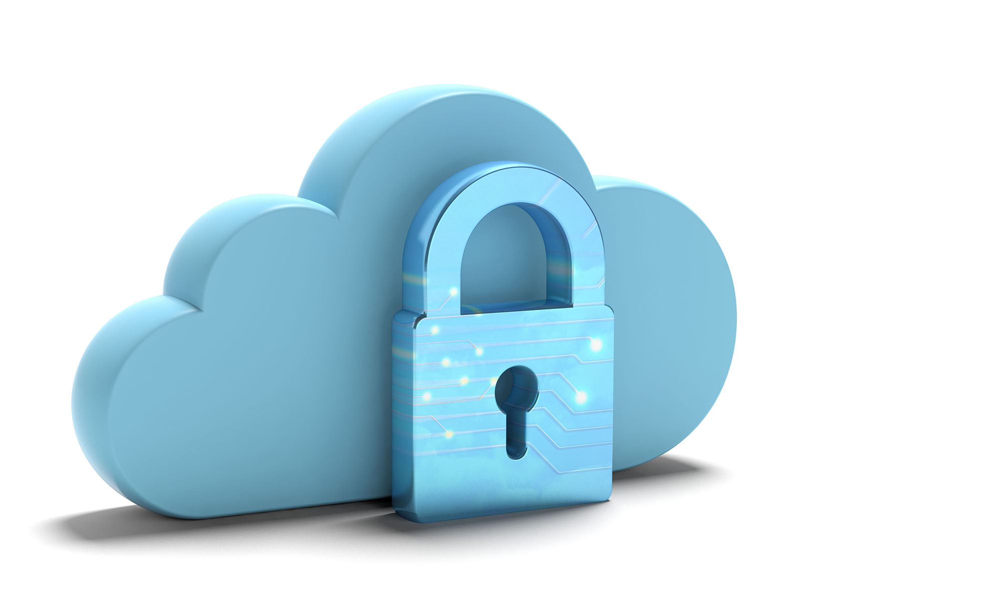 Illustration of cloud with padlock
